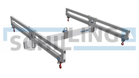 Aluminium load beams in H-construction