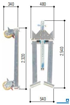Кран козловой алюминиевый, мобильный с грузом, с двойной балкой, грузоподъемность 1 000 кг и 1 500 кг
