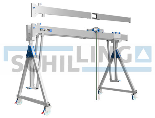 mobile aluminum gantry crane with double girder