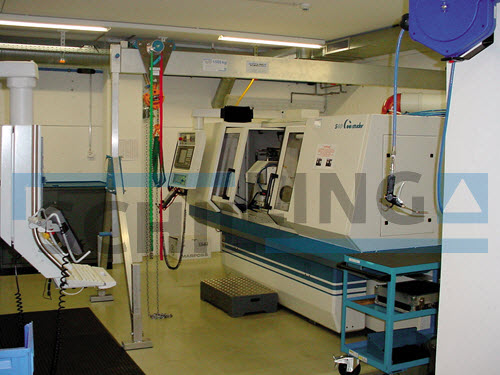 CNC machine gantry crane