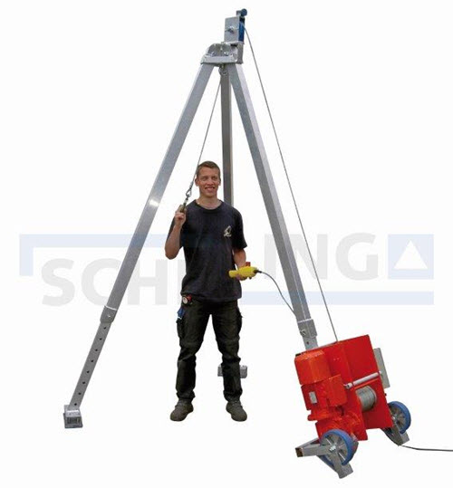SCHILLING Tripod with electric cable winch